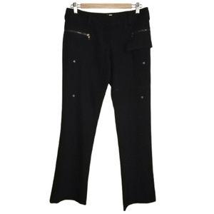 PRADA Black Minimalist Zipper Straigth Legs Pants